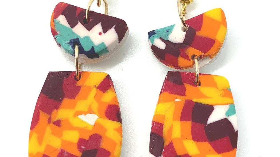 Medium High Desert Paddle Earrings