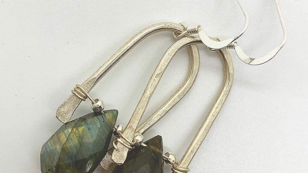 Labradorite Silver Wishbones