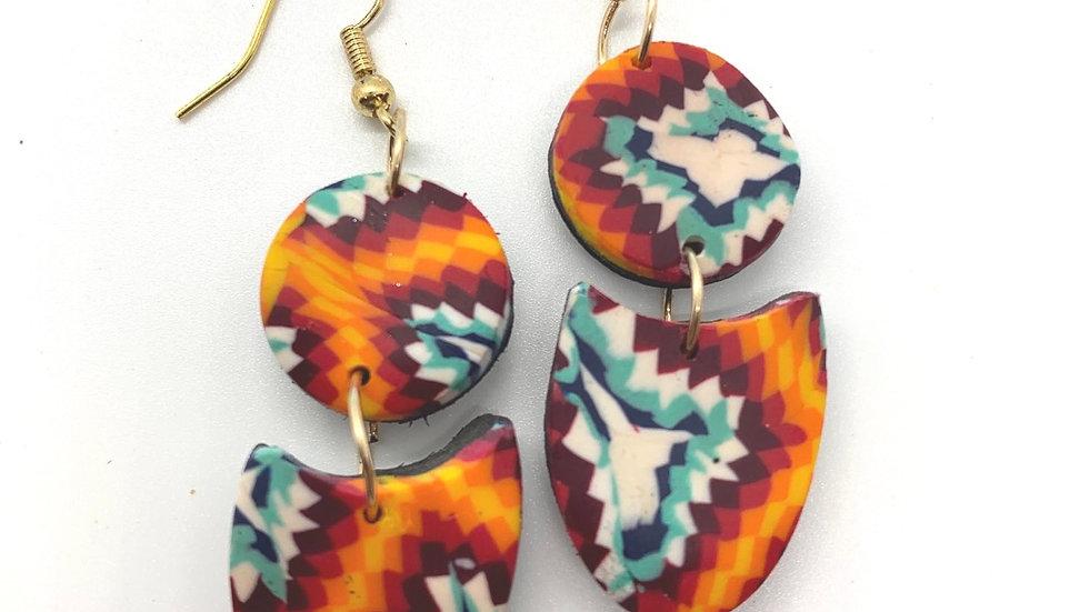 Small High Desert Paddle Earrings