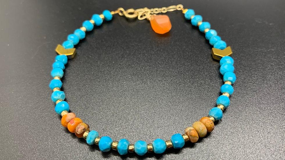 Turquoise and Jasper bracelet