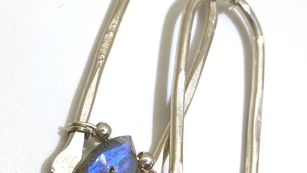 Silver Labradorite Wishbones