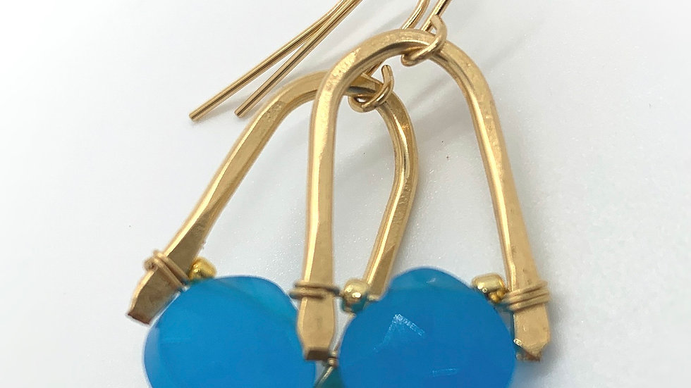 Golden Wishbones with Chalcedony- minis