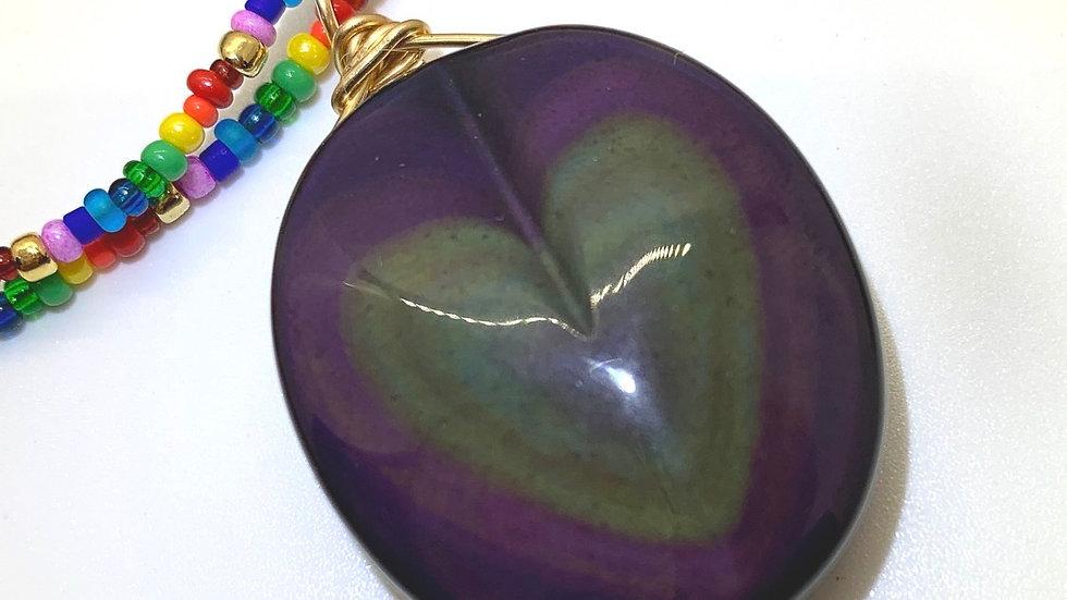 Rainbow Obsidian Lei