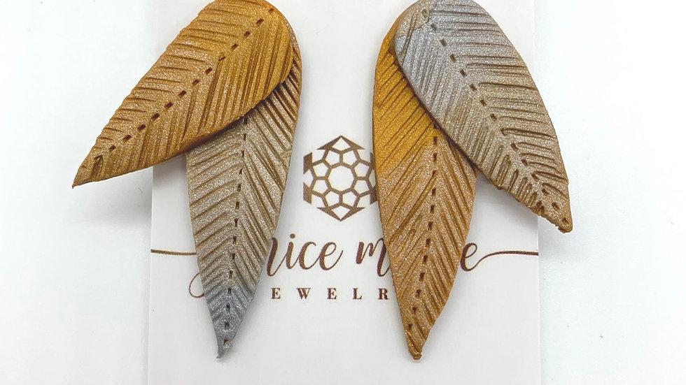 Neutral Wings Stud Earrings