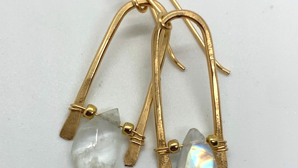 Rainbow Moonstone Wishbones