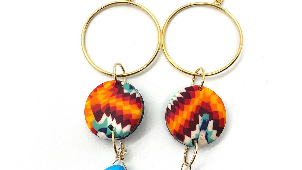 High Desert Hoops with Turquoise