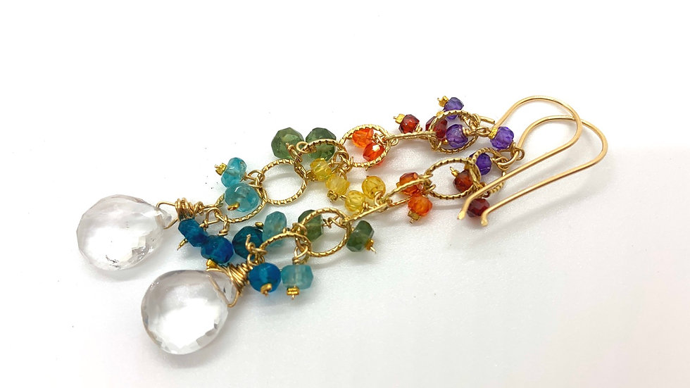 Rainbow Cascadia Earrings