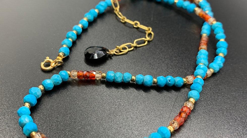 Turquoise and Carnelian Collar