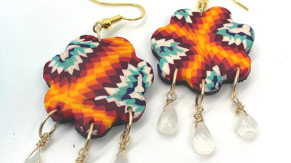High Desert Rain Earrings with Moonstone