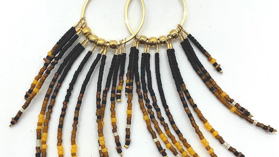 La Playa Fringe Earrings