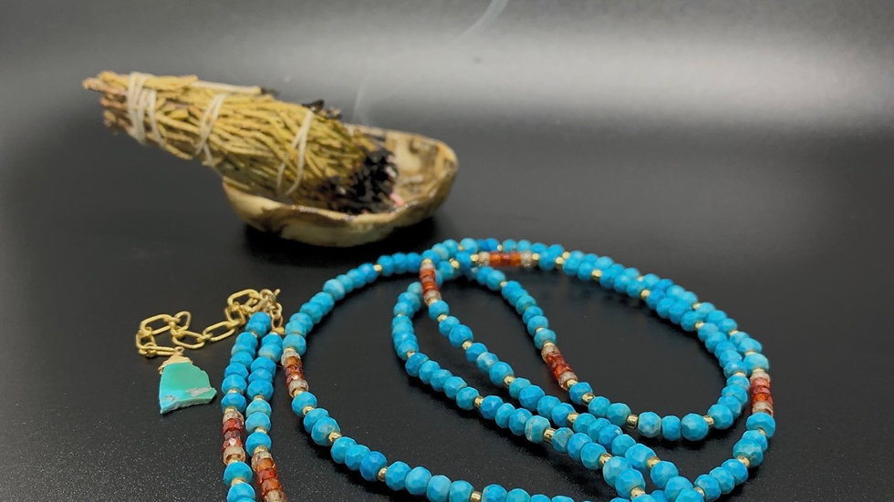 Turquoise and Carnelian Strand