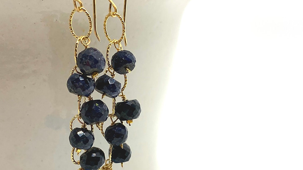 Chalcedony and Lapis Lazuli Cascadia Earrings