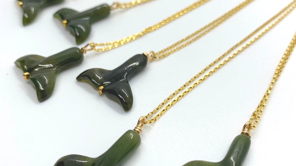 Jade Mermaid  Necklace