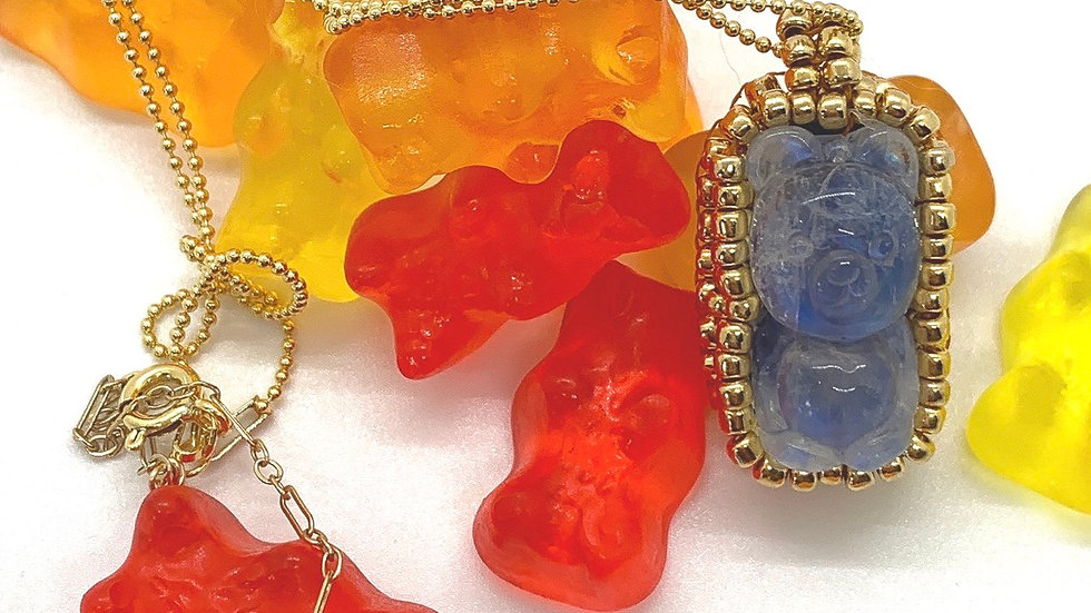 Moonstone Gummy Bear Necklace
