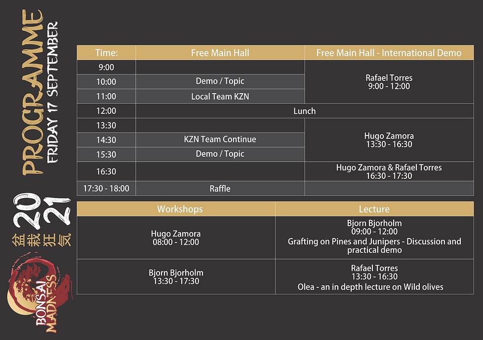 Bonsai Madness - Programme - 02 - Friday