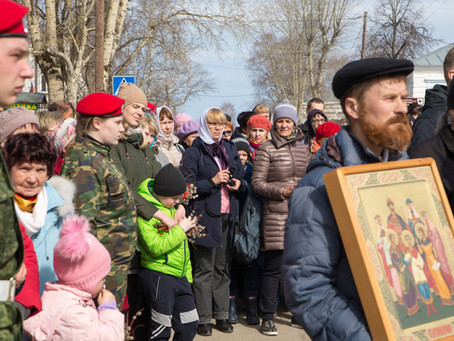 Вручение Знамени 25-го Тобольского Сибирского стрелкового полка