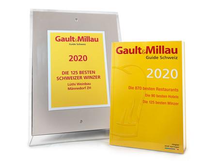 Gault&Millau 2020: die 125 besten Schweizer Winzer – und wir sind dabei!