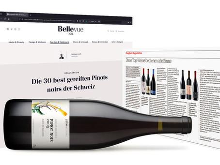 Topklassierung bei der Pinot Noir-Verkostung der NZZ-Jury –Merci für's Prädikat «Spitzenwein»!