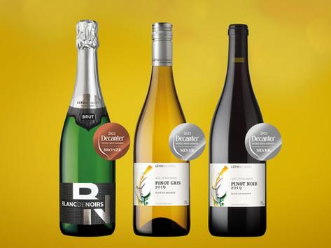 Drei Auszeichnungen am Decanter World Wine Award 2021