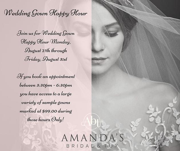 Wedding Gown Happy Hour SAMPLE SALE