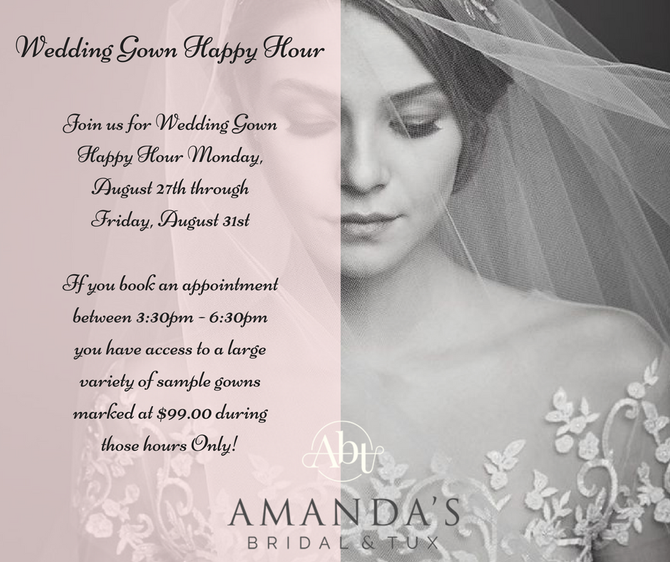 Wedding Gown Happy Hour SAMPLE SALE