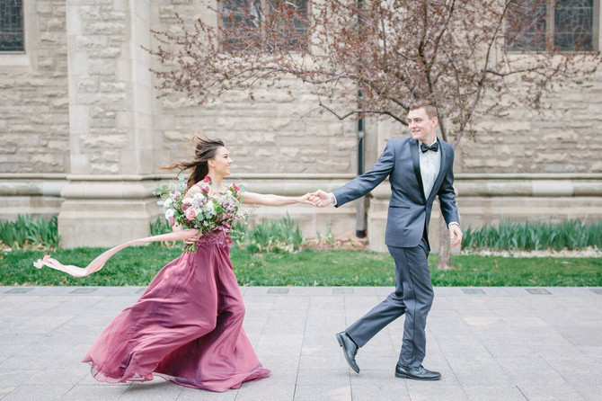 Saint John's Cathedral Styled Engagement Shoot