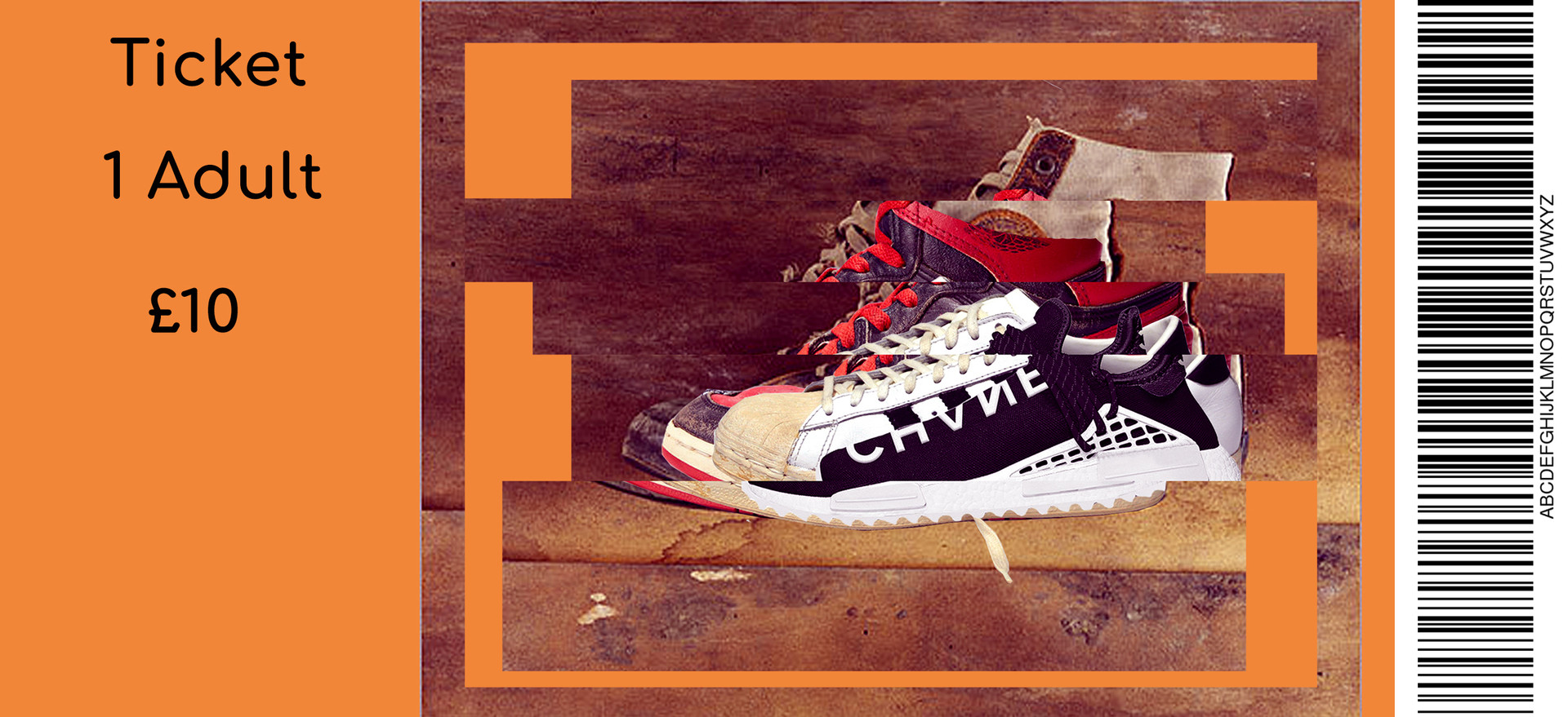 The Evolution of Sneakers Ticket design