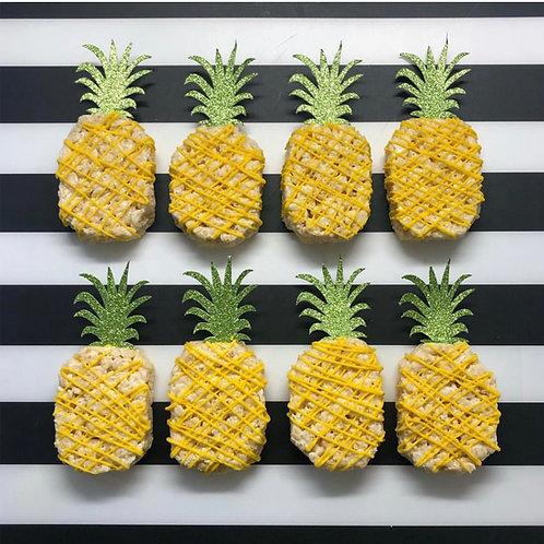 Pineapple Rice Krispies Treats