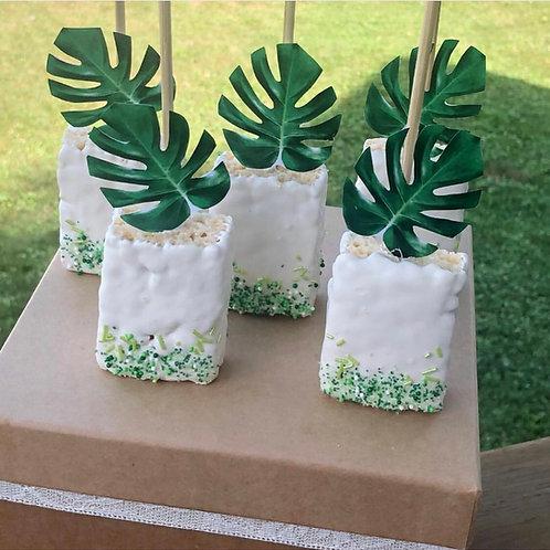 Palm Leaf Rice Krispie treats