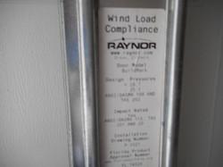 impact garage door  label