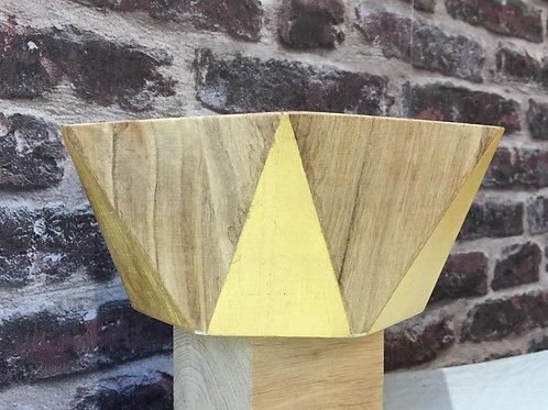 Vide-poche octogonal bois et or
