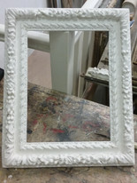 Cadre Louis XIII : apprêtage en blanc