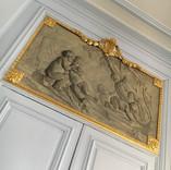 Presbytère de St Paul St Louis, Paris : dorure des encadrement des tableaux, détail