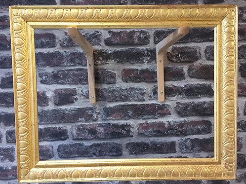 Cadre en bois doré à l'or 22 carats