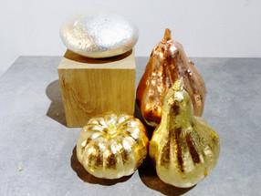 décor de table, doré au cuivre et à l'or