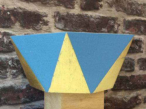 Vide-poche octogonal bleu et or