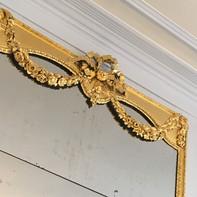 Presbytère de St Paul St Louis, Paris : dorure des miroirs, détail