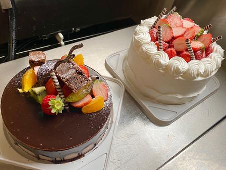 最近のデコレーションケーキ。