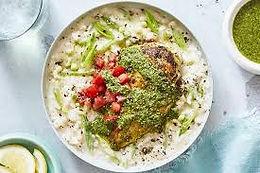 Pesto Chicken and Risotto