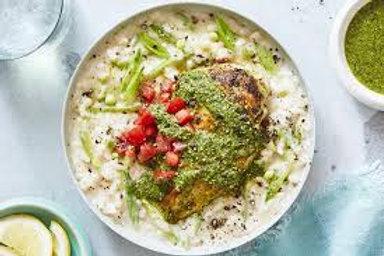 Pesto Chicken w/risotto