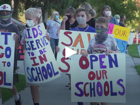 Parents, students rally for a return to the classroom despite COVID metrics