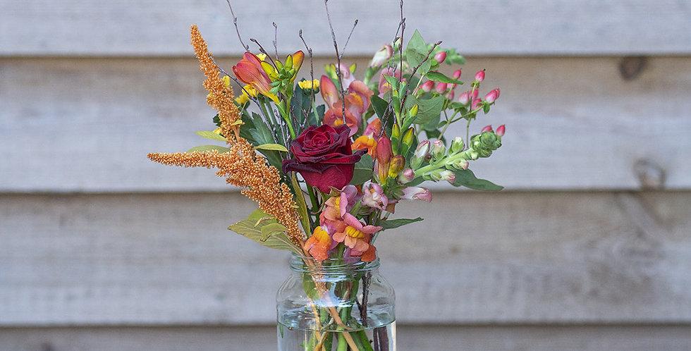 Bronze Vase of Flowers