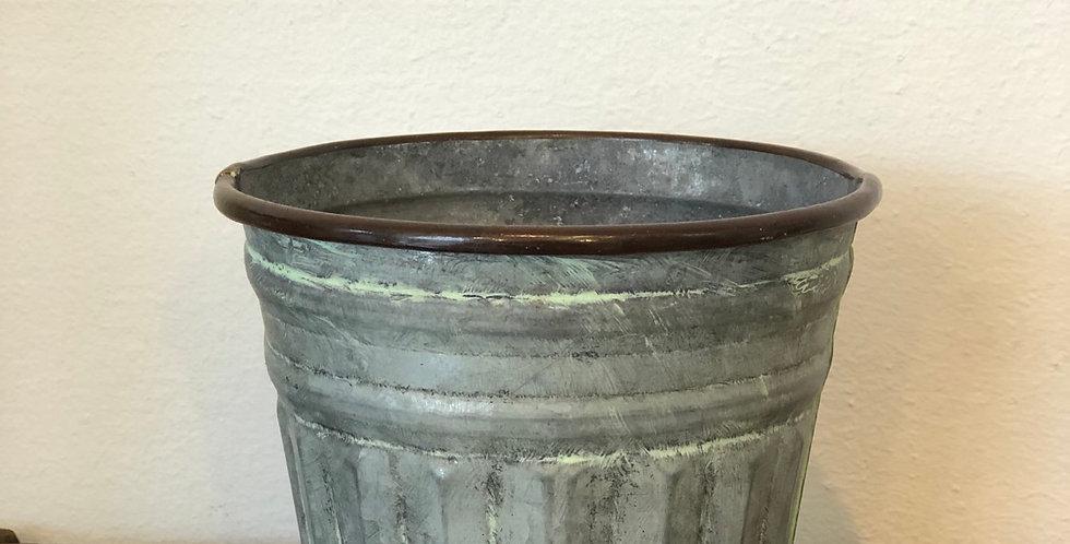 Rustic Zinc Pot