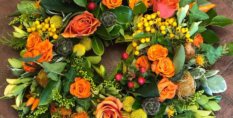 Fresh Flower Autumn Wreath