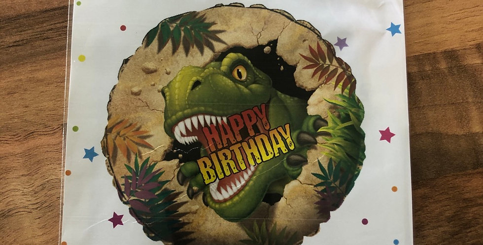 Dinosaur Happy Birthday Balloon