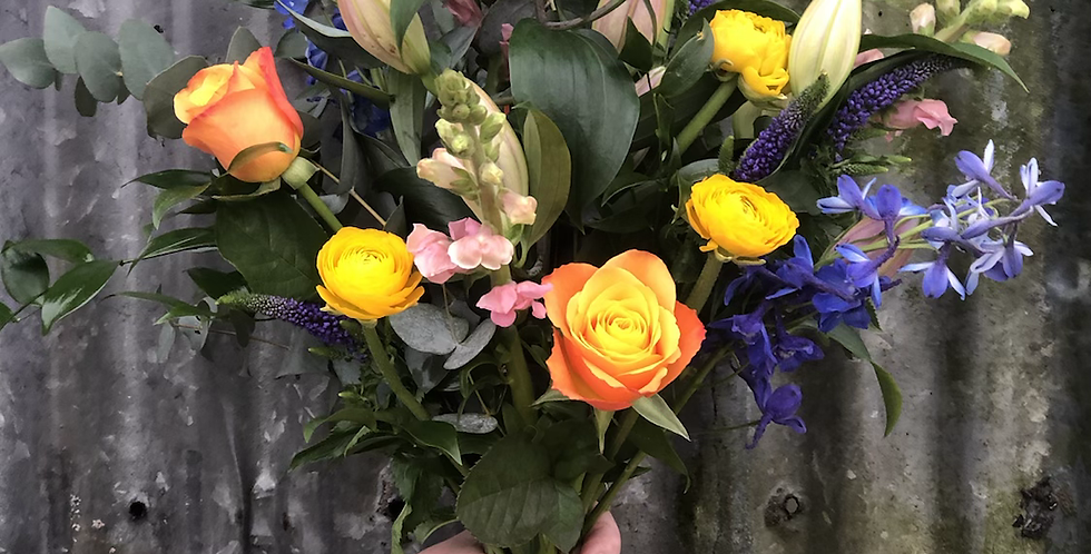 Colourful Bouquet with Lilies £35