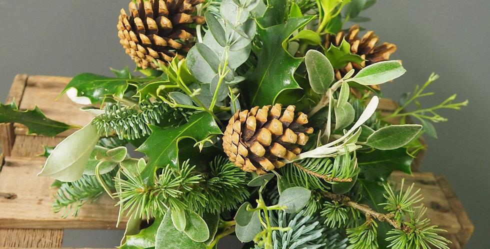 Foliage and Cones Arrangement