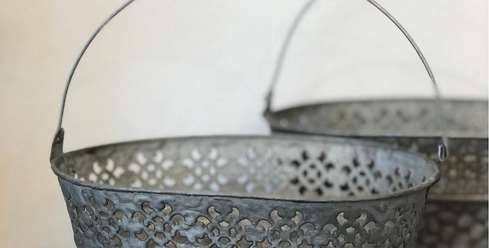 Zinc Bucket with handle