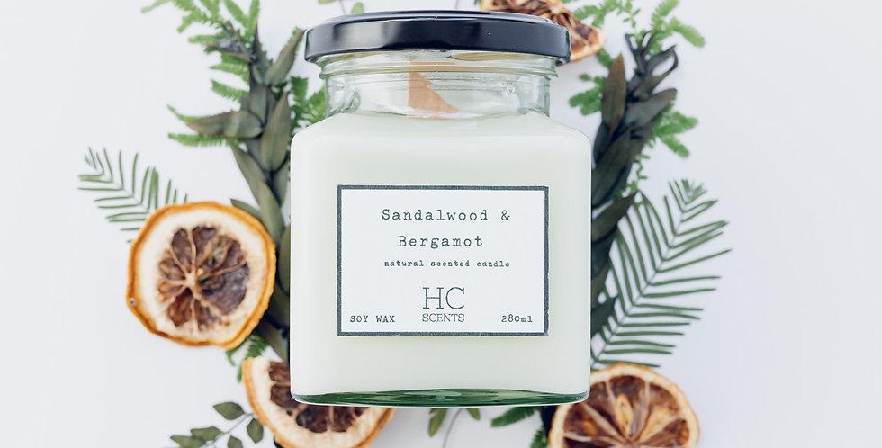 Sandalwood & Bergamot Candle