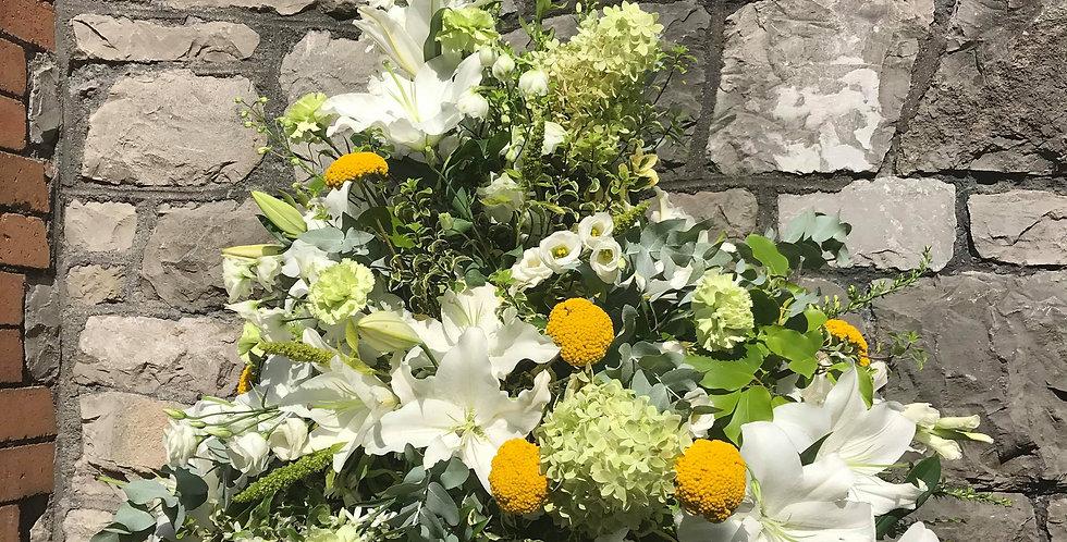 Yellow And Cream Arrangement